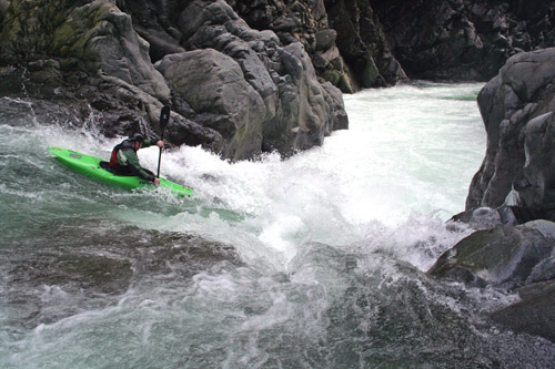 Me running a fun drop on the Gordon River, Van Island again
