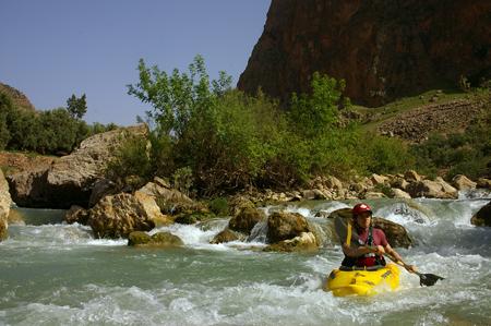 Chris Smith kayaking Morocco