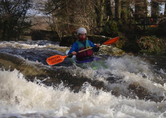 Steve enjoying the first rapid on the Middle Tavy