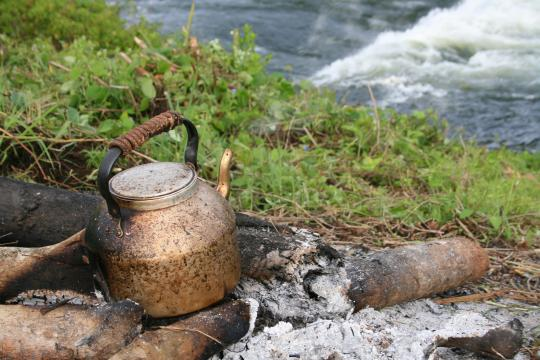 Making morning tea