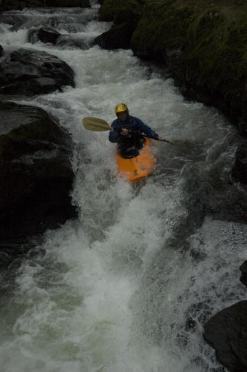 Matt Shipp on the final crux of the gorge