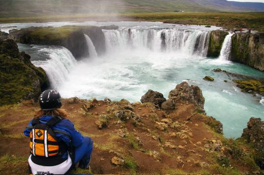 Checking out Godafoss