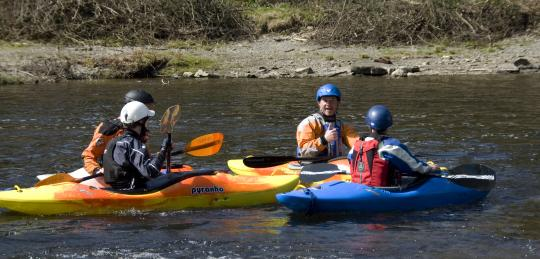 Out coaching some of my Long Term students on the Dee. Photo Emily Goodman