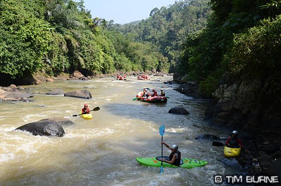 Low water on the Citarik river