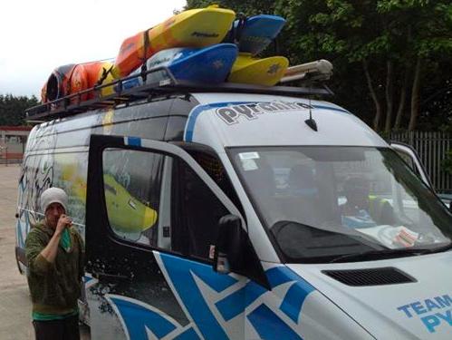 Team Van Ready to leave Pyranha HQ