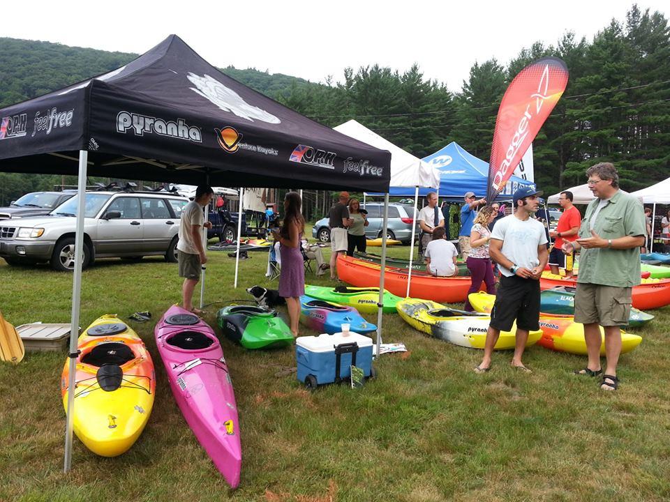 Chattin it up at Deerfield River Fest.  Photo: Joe Scavo