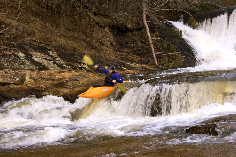 Joey on the dam boof  Photo: Matt West