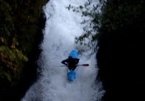 Half way down Bridal Veil Falls, WA