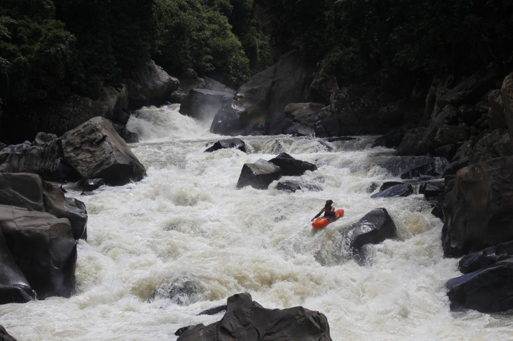 Nick Bennett enjoying the incredible Sungai Tolokosan deep in the Malysian jungle.