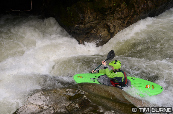 Taking the mainline on the 3 huevos rapid on the Jondachi
