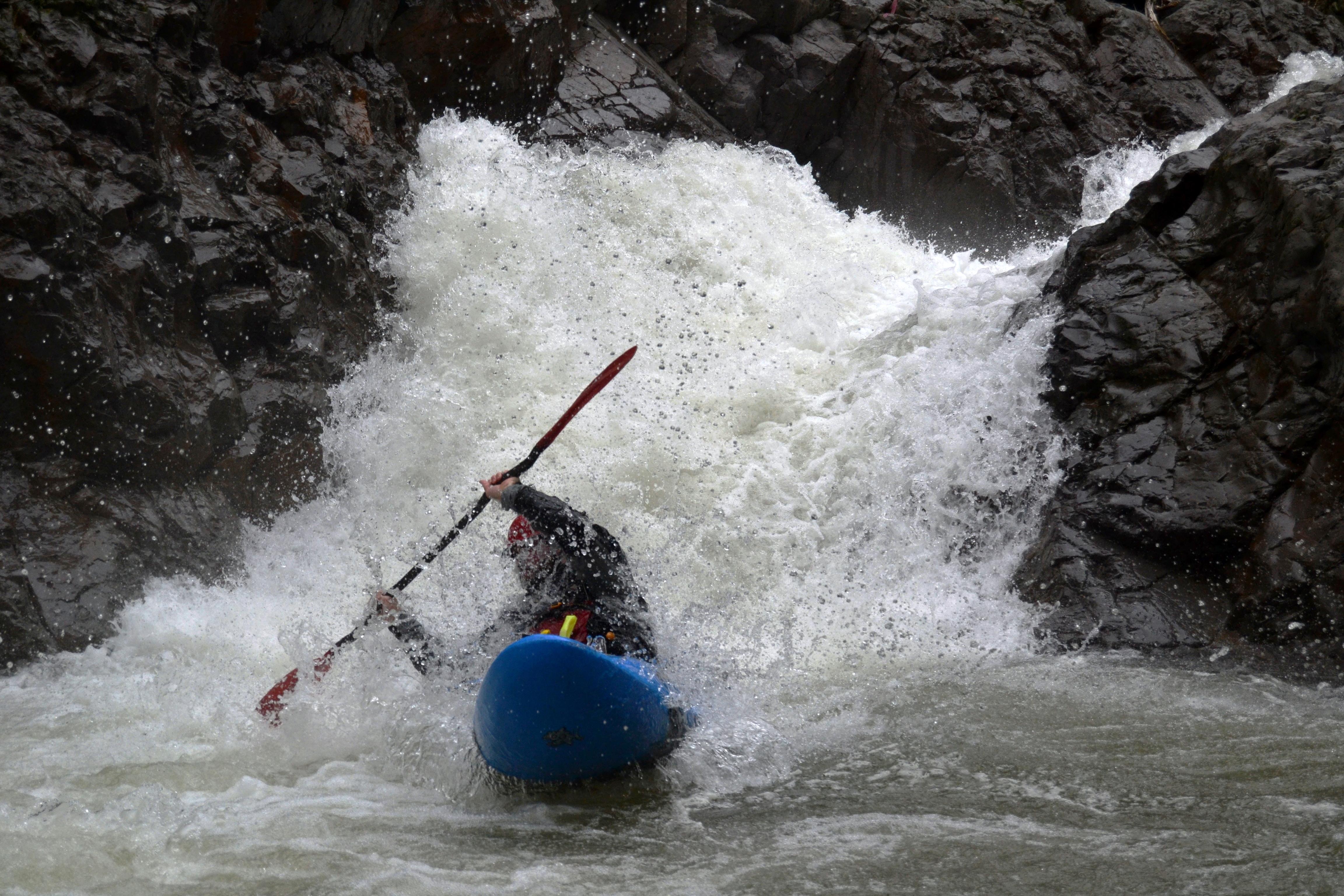 Canoe creek kayak paddled river rowing spank