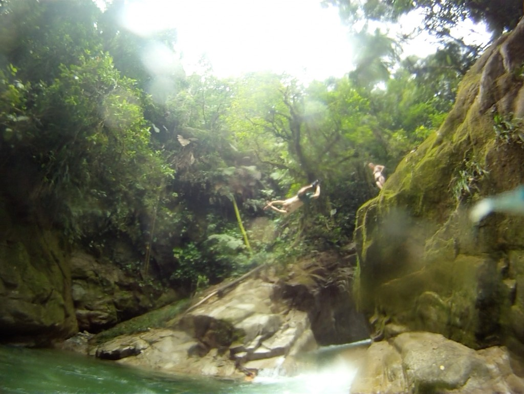 One of the sickest swimming holes in the middle of the jungle!