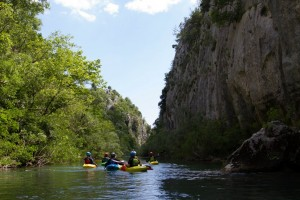 Beautiful gorge on the Cetina