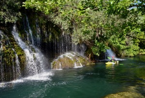 Waterfalls at the Cave Entrance