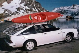 Rotobat on a Roofrack in the 80s