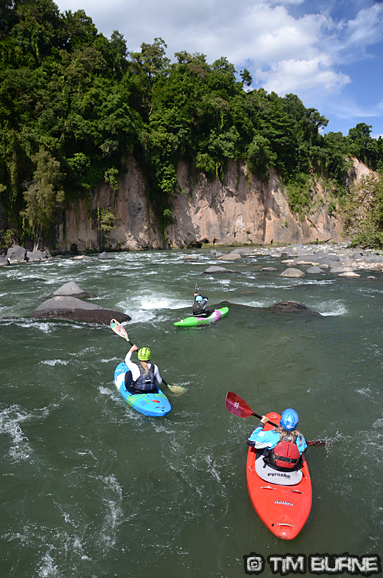 A Sunday cruise down the Filobobos river with the Reinoso family who run Aventurec
