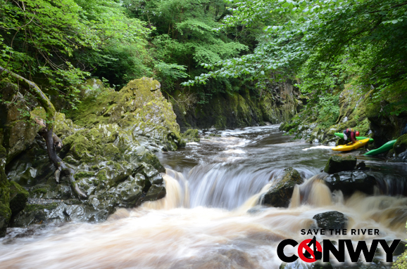 Another drop in the 'glen that would be affected by the hydro scheme.