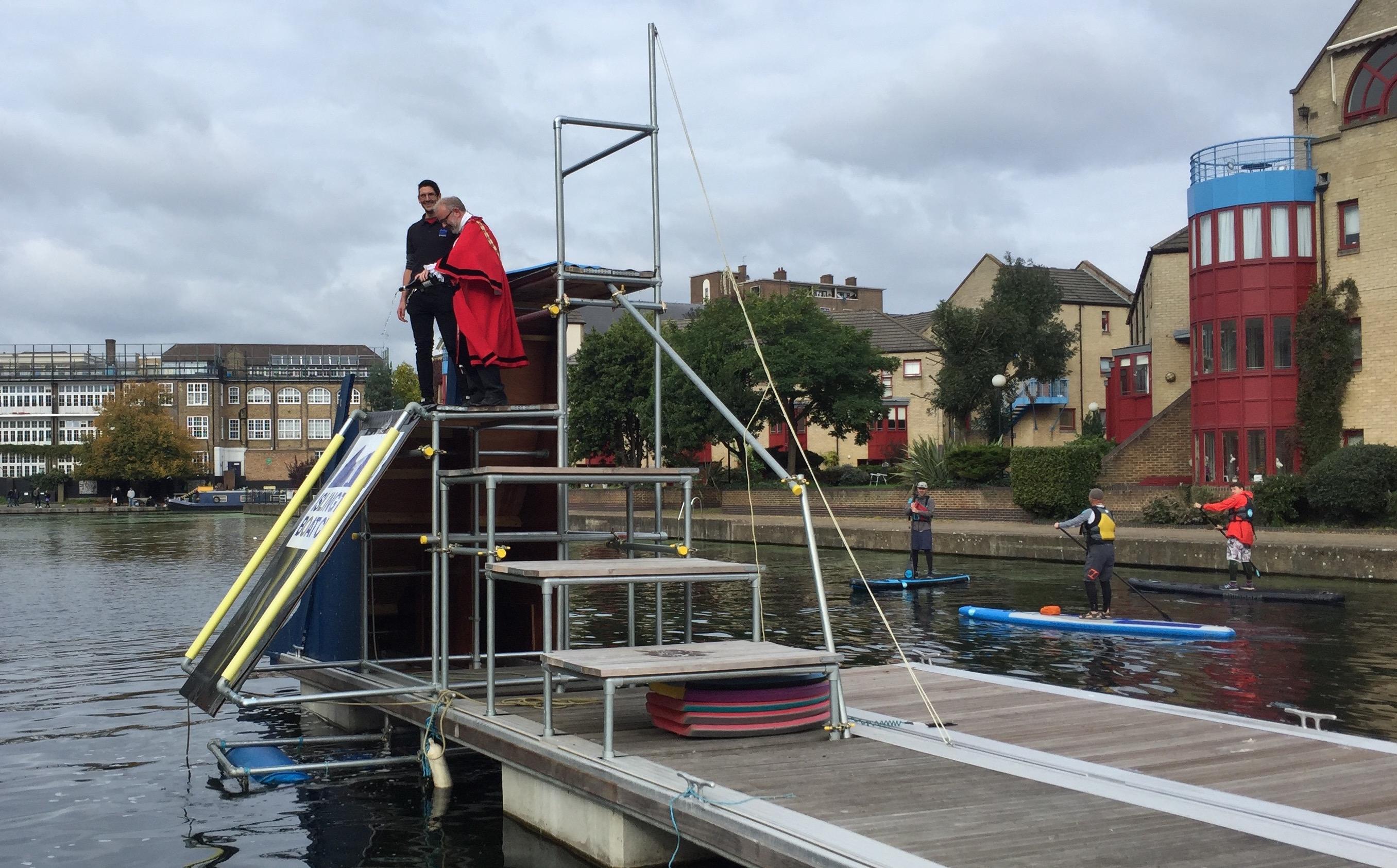 Mayor christening ramp