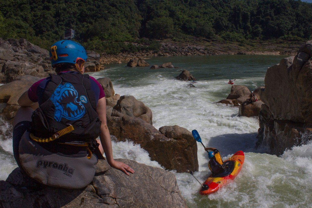 Scouting one of the first rapids. Photo by Jamie Conn