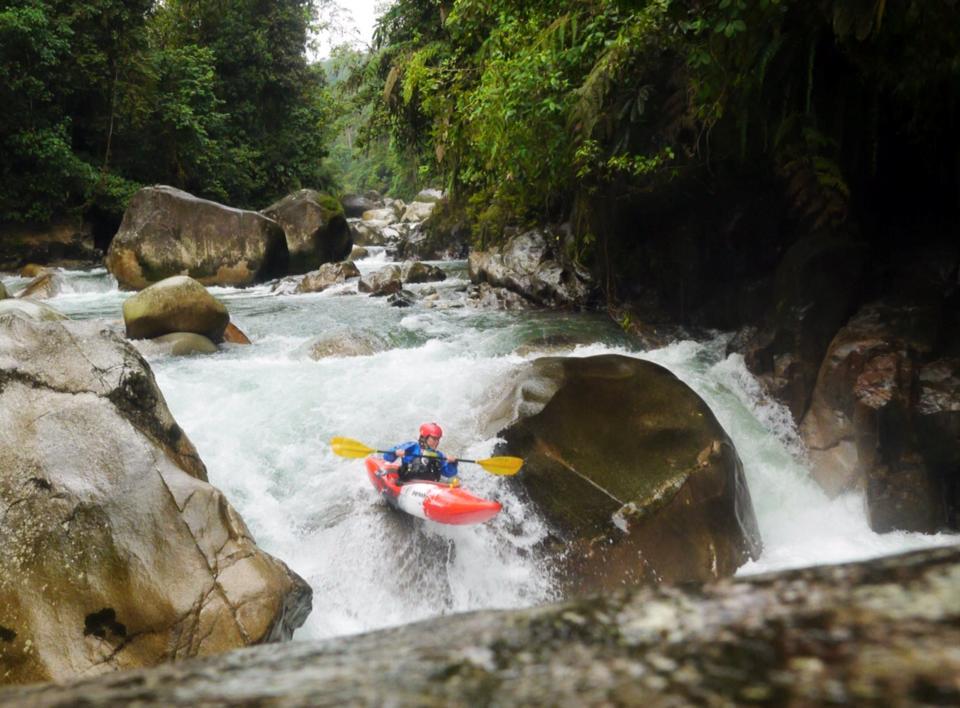 Rock sliding on the Jonachi River (Photo - Niko Peha)