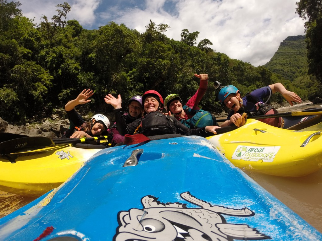 """Girls just wanna have fun"" during an expedition in Indonesia. Photo – Beth Hume"
