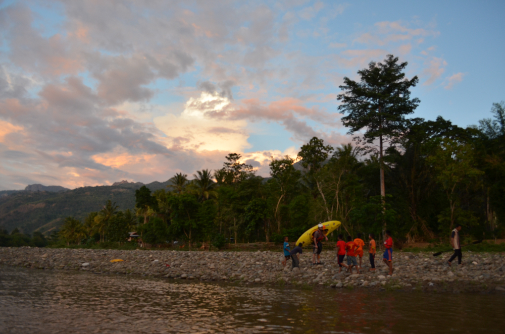 Sunset finish on the Sadan river.