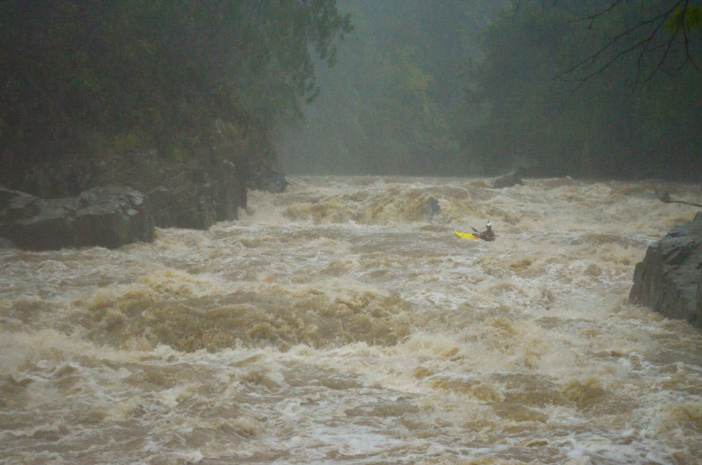 Big volume, technical white water with the river rising all the time!