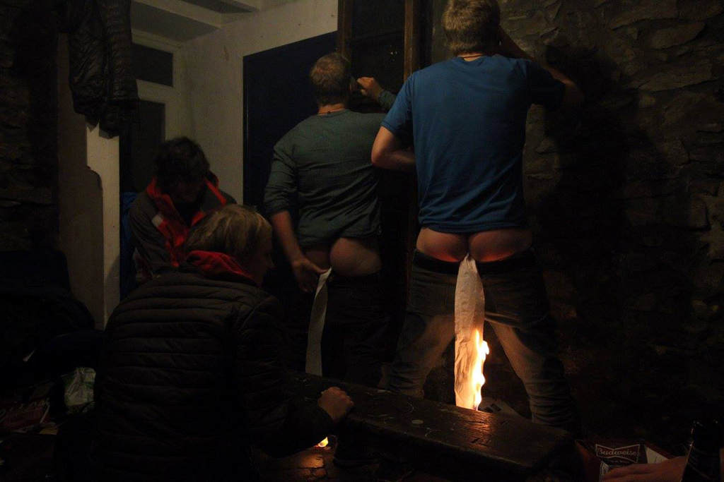 Student drinking games - the curry obviously wasn't hot enough - (pic: Murray Gauld)