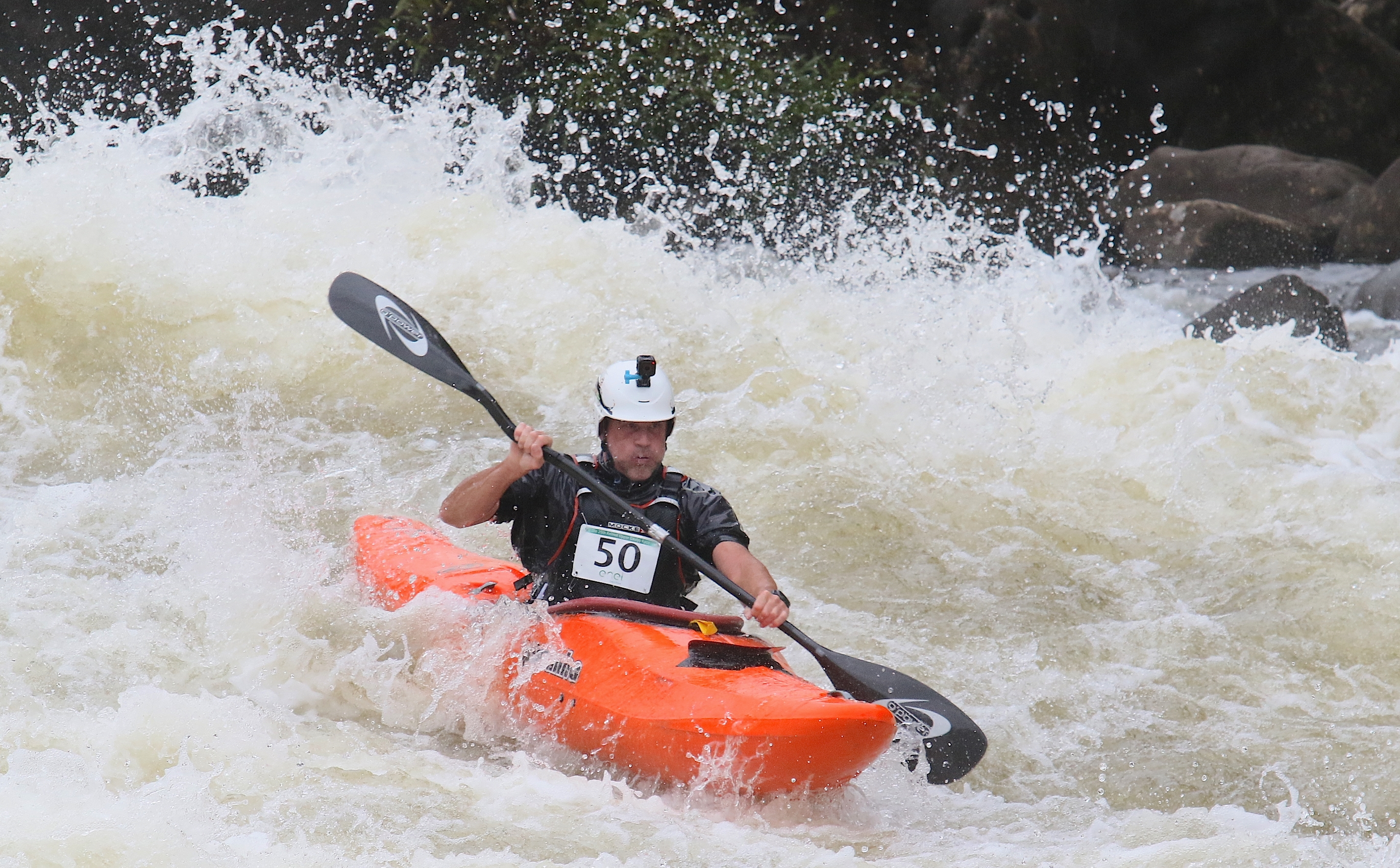 Chris Hipgrave in the Pyranha 12R at the Animal Upper Gauley Race