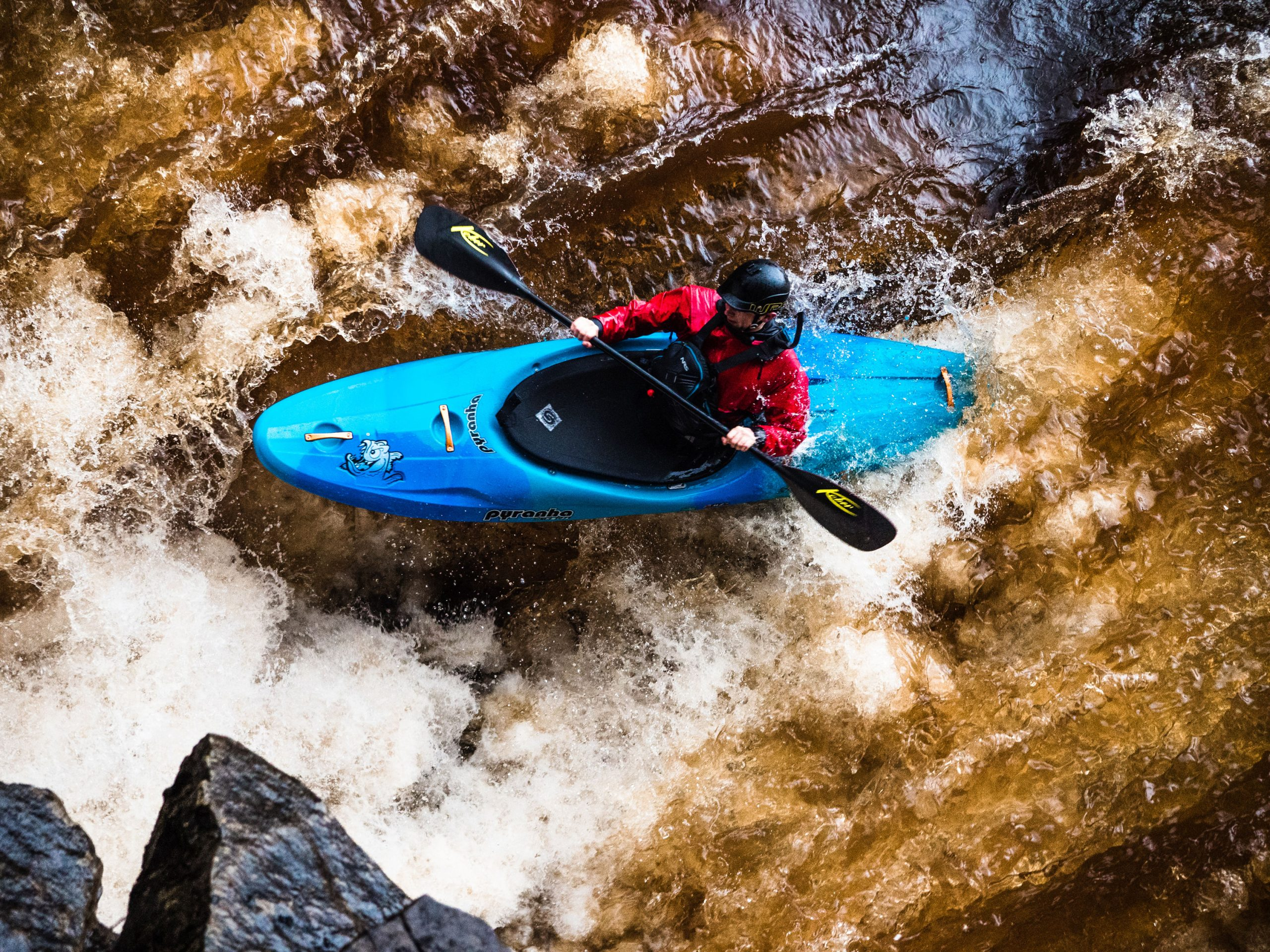 David Bain paddling a Scorch Large in Blue Crush